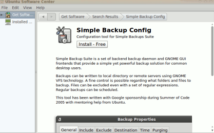 installing simple backup config on ubuntu 10.04
