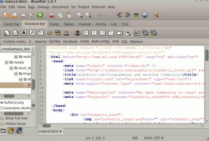 install bluefish on ubuntu