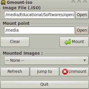 gmount-iso image mounting in ubuntu