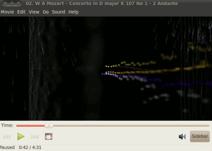 playing mp3 on ubuntu with movie player