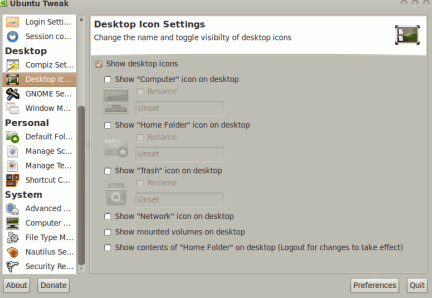 tweaking ubuntu system settings