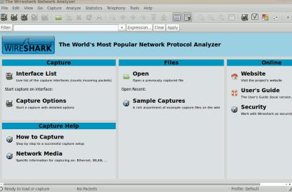 network analyzer-wireshark for ubuntu