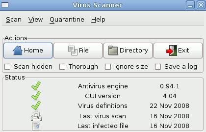 clamav in ubuntu 10.04-snapshot