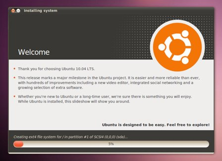 installing ubuntu from usb stick