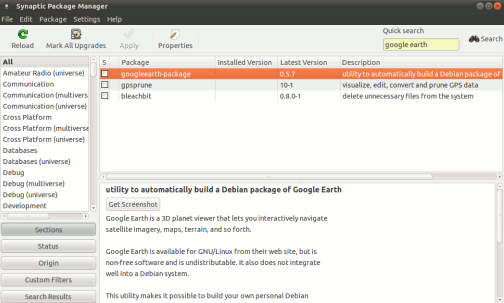 installing google earth in ubuntu 10-10