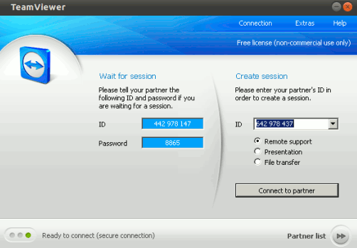 installed teamviewer on ubuntu 10.10