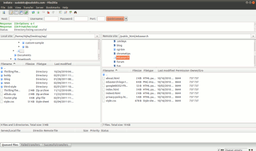 Filezilla for Ubuntu 10.10