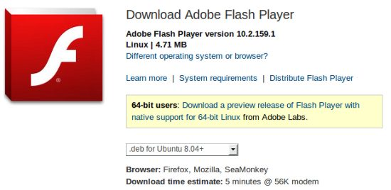 installing adobe flash player on ubuntu 11.04