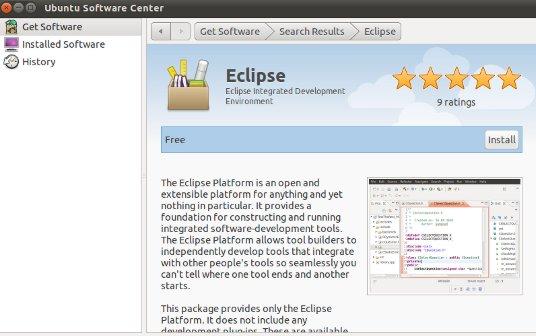 installing eclipse ide on ubuntu 11.04
