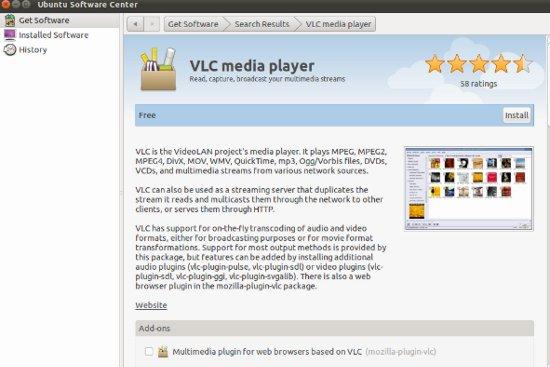 vlc pour ubuntu 11.04