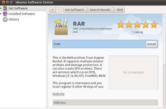 best rar program for ubuntu