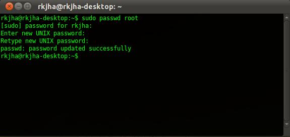enable root in ubuntu 11.04