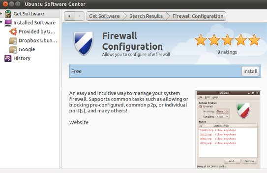 installing-firewall on Ubuntu 11.04