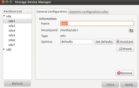 storage device manager Top Tips and Tricks for Ubuntu 11.10 Oneiric Ocelot