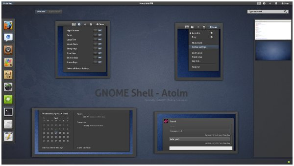 Atolm Gnome Shell theme