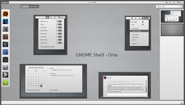 Orta Gnome Shell Theme