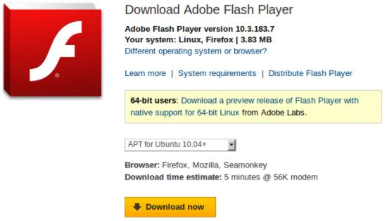 How to install adobe flash player in ubuntu How to start flash player