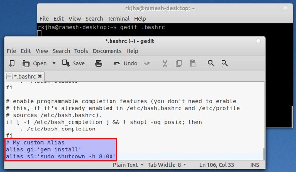 bash alias Top Tips and Tricks for Ubuntu 11.10 Oneiric Ocelot