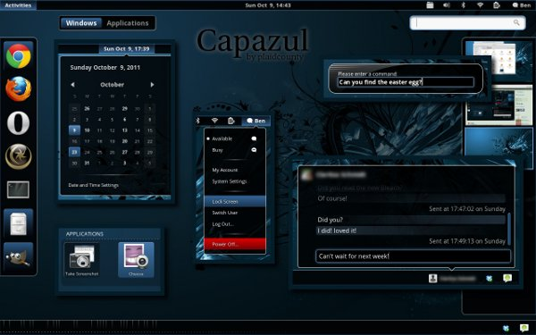 capazul-gnome-shell-theme