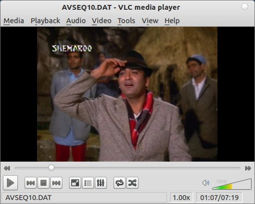 playing-vlc in Ubuntu 11.10