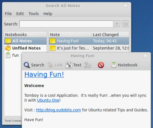 tomboy notes Top Tips and Tricks for Ubuntu 11.10 Oneiric Ocelot
