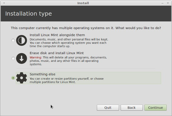 select installation-type