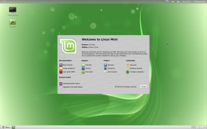 linux-mint-12 : Gnome shell interface