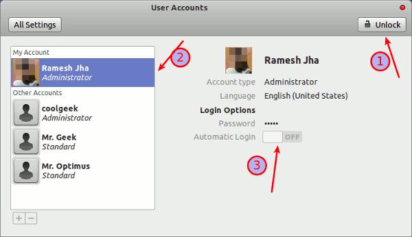 enable-autologin in Ubuntu