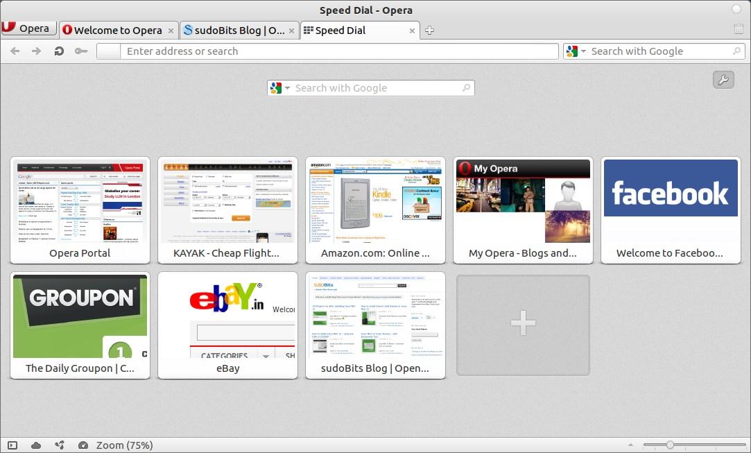 opera snapshot in ubuntu 11.10