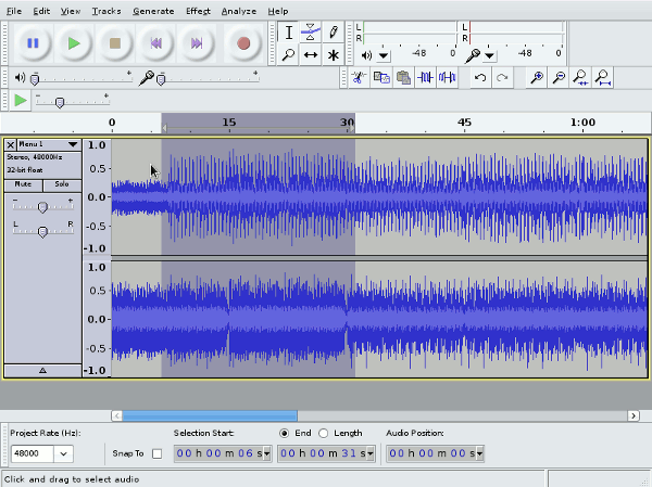 audacity for ubuntu