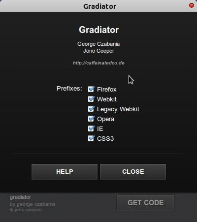 gradiator-settings