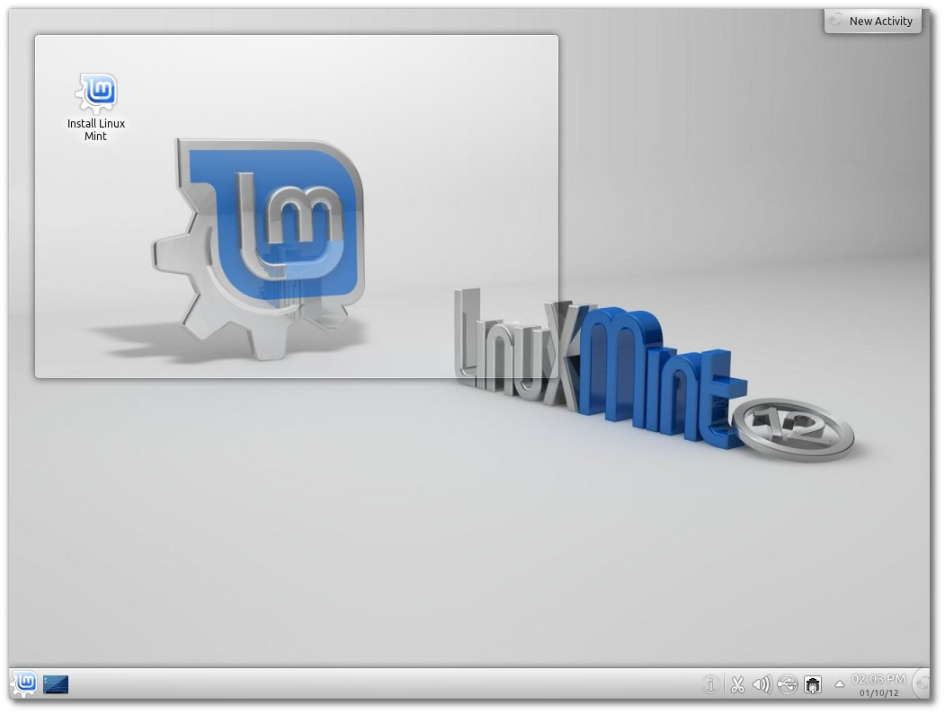Linux Mint 12 with KDE 4.7