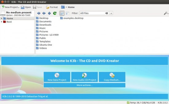 k3b - Disc Creator