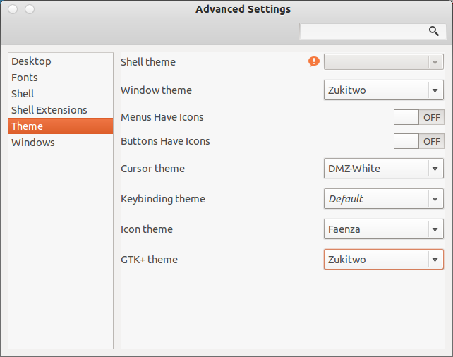 Change Gnome themes