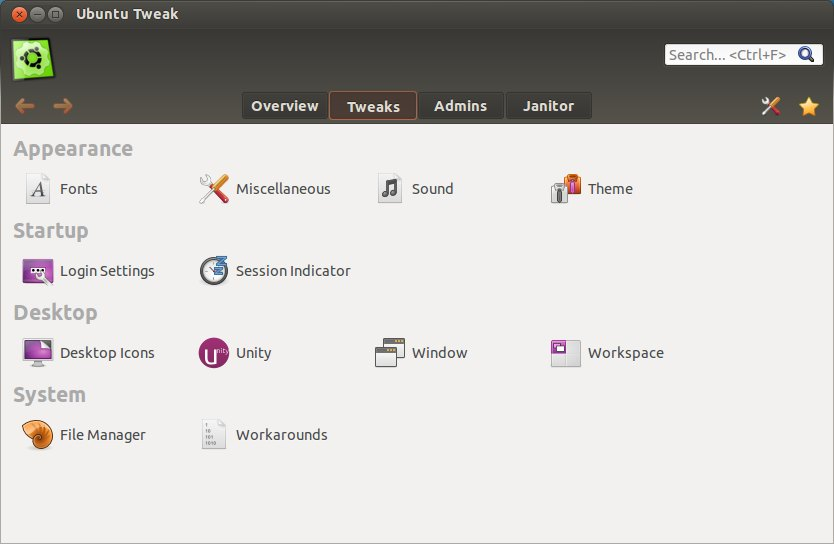 Precise Tweak (New Ubuntu Tweak)
