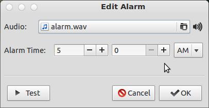 Editing an Alarm in Cuckoo