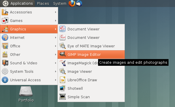 Applications Menu in MATE Desktop