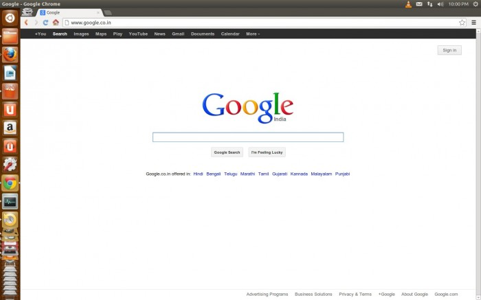 Google Chrome : Ubuntu 12.10
