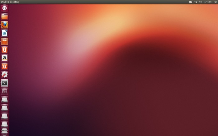 ubuntu-1210 Default Desktop Look