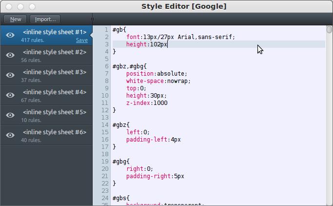 style-editor