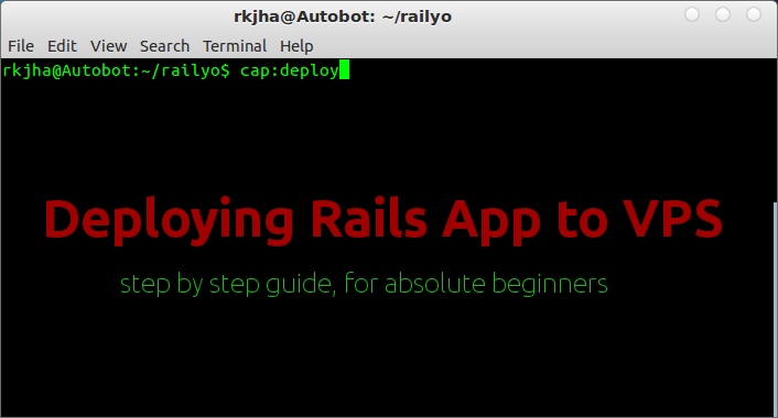 deploying-rails-app to vps