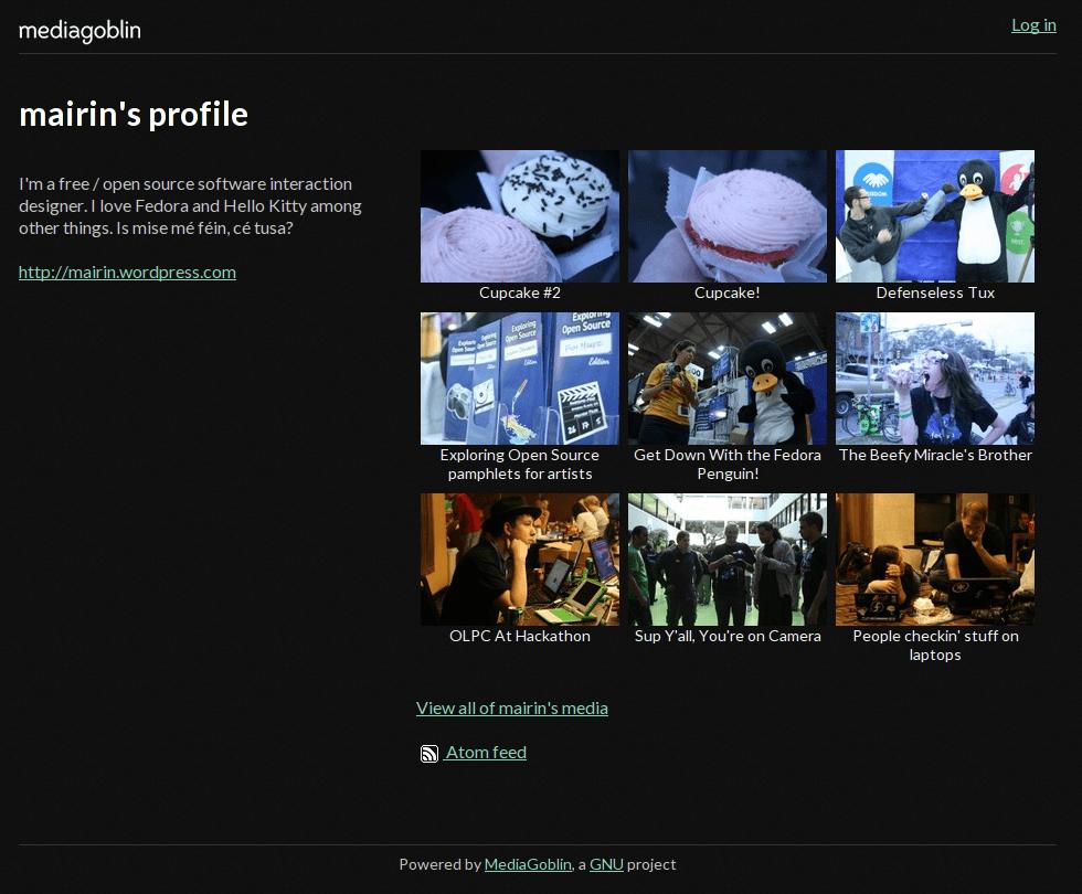profile in MediaGoblin