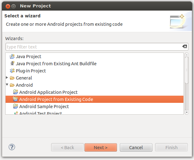import-android-eclipse