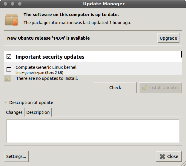 update manage ubuntu 14.04