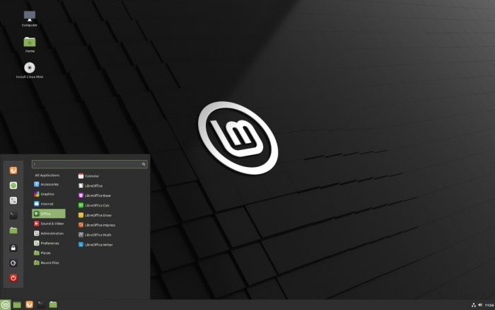 Linux Mint - Screenshot with Cinnamon Desktop
