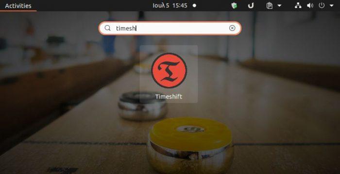 Launch Timeshift