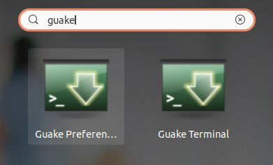 Launch Guake Terminal