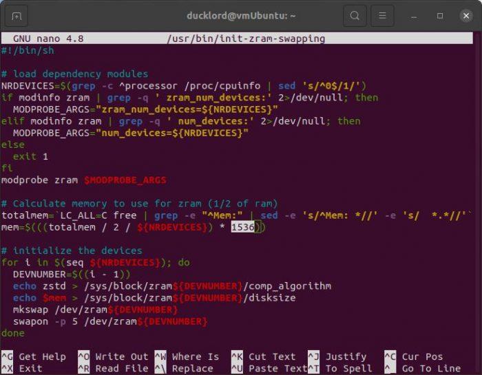 Ubuntu zRAM